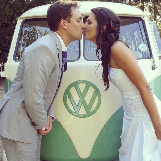 The Mint Green paint works great with an Earthy themed wedding
